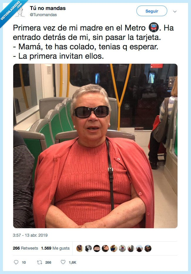 invitar,madre,metro