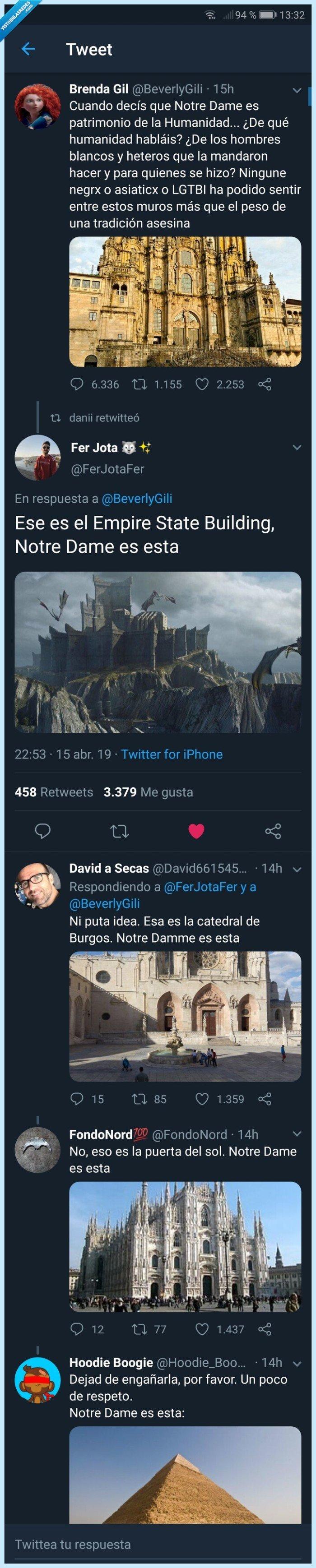 Notre damme,Twitter