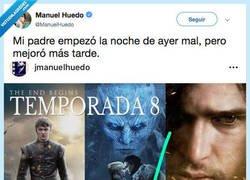 Enlace a El padre de Manuel Huedo lo tiene claro con Juego de Tronos, por @ManuelHuedo