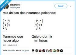 Enlace a Tengo 2 neuronas y mirad, por @nothingxlse