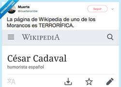 Enlace a Estan apareciendo mensajes muy raros y ocultos en la wikipedia de los Morancos, por @muertehorrible