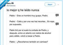 Enlace a Hacen un Fan Fic con Pablo Iglesias y Pedro Sanchez y es para mear y no echar gota