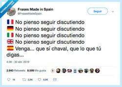 Enlace a Acabar las discusiones en español, por @FrasesMadeSpain