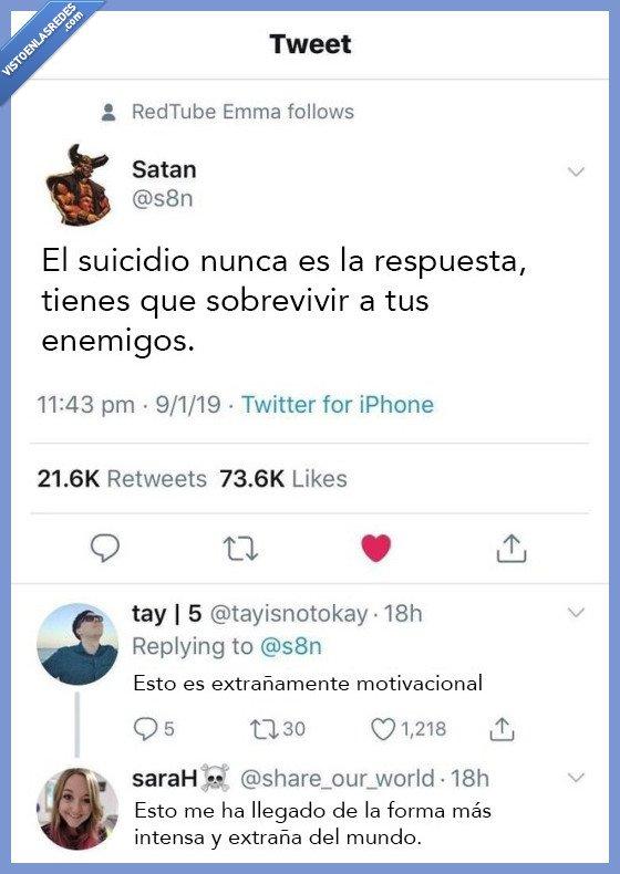 motivacion,satan,sobrevivir,suicidio