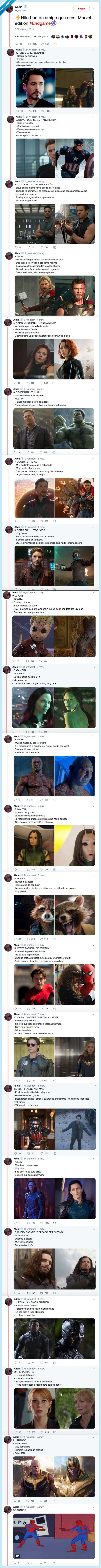 avengers,iron man,personalidad,spiderman,test,thor,tipo,vengadores,viuda negra