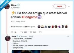 Enlace a Qué tipo de amigo eres: Avengers edition. Por @_wonder4