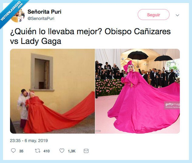 cañizares,fashion,lady gaga,meta gala,obispo
