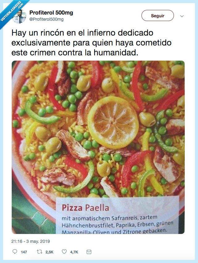aberración,crimen,paella,pizza