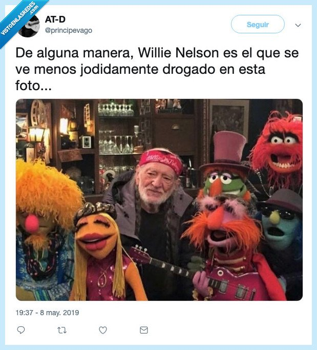 Muppets,Principevago,Teleñecos,Willie Nelson