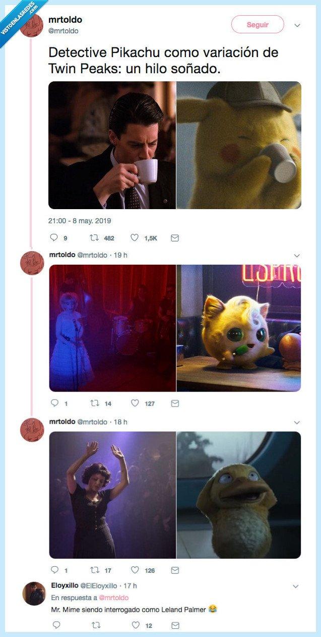 crossover,detective,pikachu,series,twin peaks