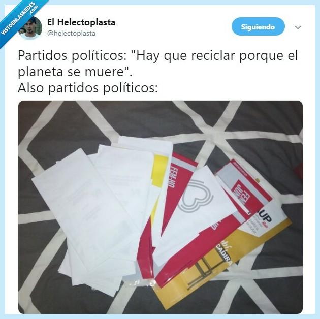 elecciones,hipocresía,partidos,políticos,propaganda,reciclar