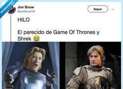 Enlace a Las coincidencias entre Juego de Tronos y Shrek son un tanto sospechosas... , por @JonSnowTM