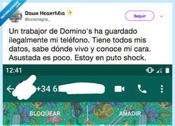 Enlace a Otro caso de acoso de parte de un repartidor que decide increpar a una chica por whatsapp, por @lucismagna_