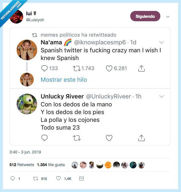aprender,dedos,es,loco,locura,mano,spanish twitter