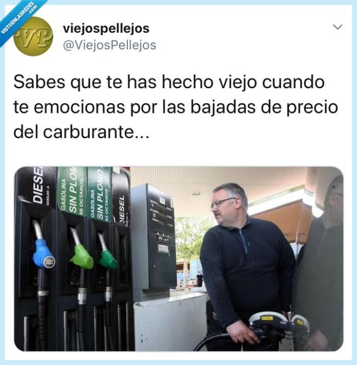 carburante,combustible,gasolinera,precio,tuit,tweet,twitter,viejo