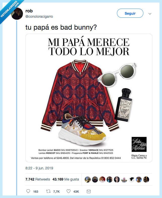 bad bunny,dad bunny,día del padre,regalo