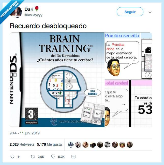 brain training,juego,nitendo ds,recuerdo