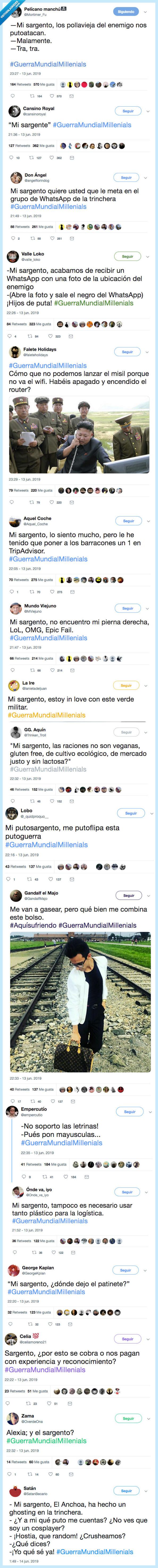 guerra mundial,millenials,twitter