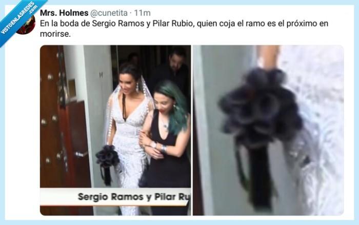 boda,chiste,España,fútbol,humor,noticia,Pilar Rubio,ramo,Ramos,risas,Sergio