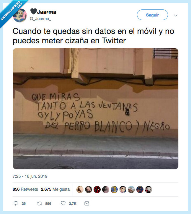 cizaña,pintada pared,twitter