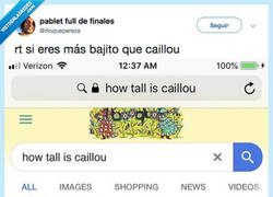 Enlace a VAYA BIGARDO EL CAILLOU, por @illoquepereza