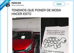 Enlace a La solución definitiva para que la peña aprenda aparcar, por @SamuelNavajas