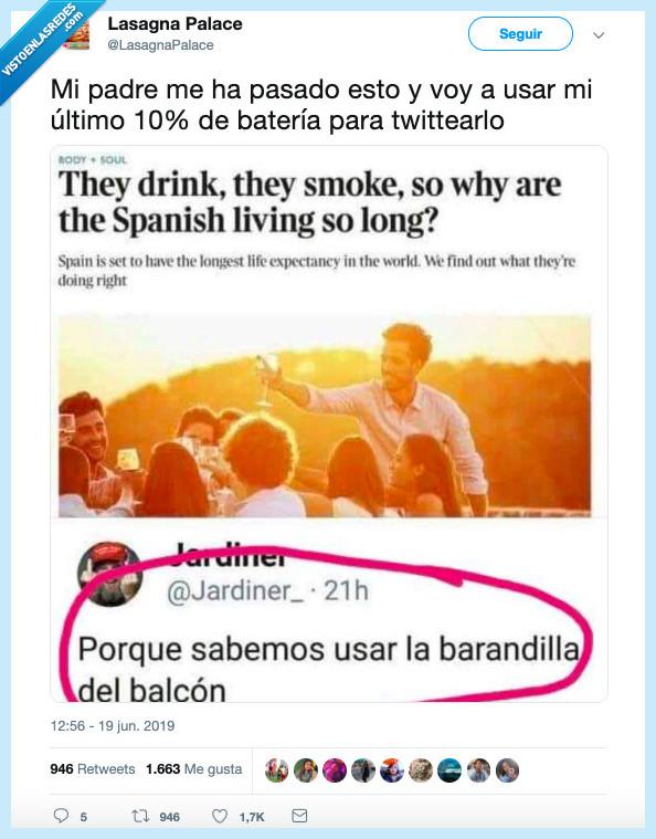 520281 - El secreto de la longevidad española, por @LasagnaPalace