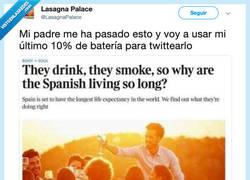 Enlace a El secreto de la longevidad española, por @LasagnaPalace
