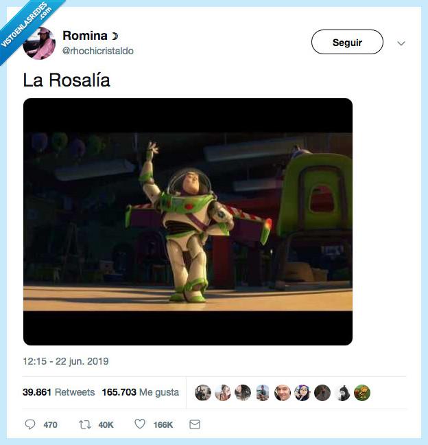 buzz lightyear,la rosalía,toy story