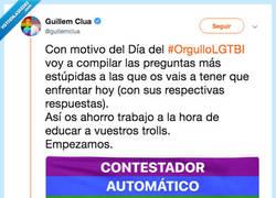 Enlace a Prepara una guía perfecta para contestar preguntas estúpidas (y homófobas) el día del orgullo, por @guillemclua