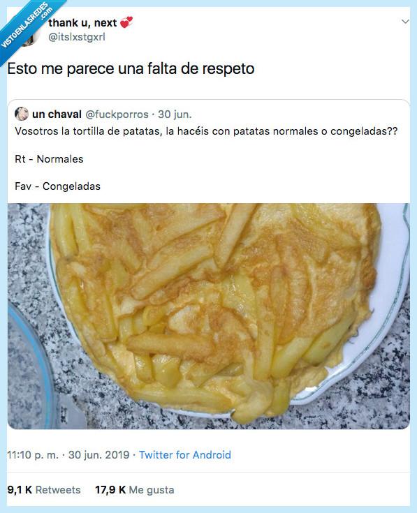 carcel,congeladas,tortilla de patatas