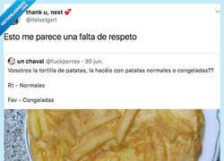 Enlace a Hay que ser desgraciao' para hacer así la tortilla de patatas..., por @itslxstgxrl