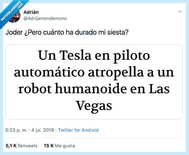 automatico,humanoide,siglos,tesla,vegas