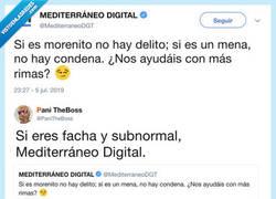 Enlace a Mediterráneo DIgital la lía con este tuit y Twitter le responde de la mejor manera posible