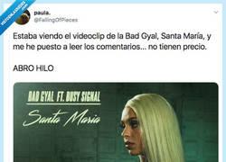 Enlace a Bad Gyal estrena Santa María y los comentarios del vídeo son muchísmo mejor que la propia cancion