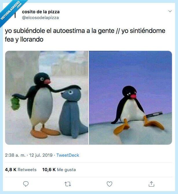 autoestima,consejos,pingüino