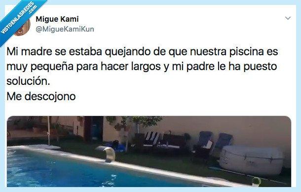 522046 - El padre de este chico vive en 2270 solucionando los problemas de su madre con la piscina de un plumazo, por @MigueKamiKun