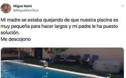 Enlace a El padre de este chico vive en 2270 solucionando los problemas de su madre con la piscina de un plumazo, por @MigueKamiKun