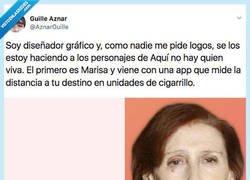 Enlace a Se inventa una app inspirada en Marisa de ANHQV que te mide el tiempo en cigarrillos, por @AznarGuille