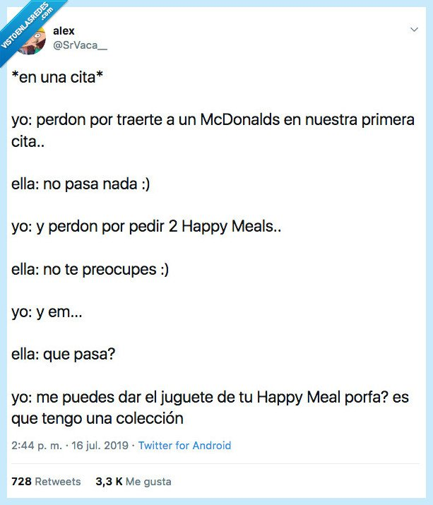 coleccion,happy meal,normalizar