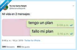 Enlace a Mi vida en dos mensajes, por @MellamoRalphW