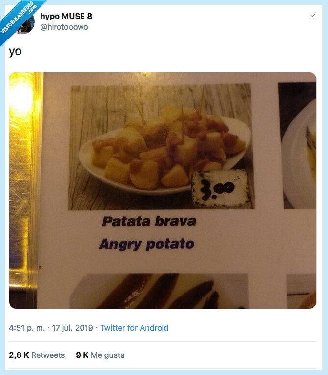 angry potato,enfadada,patata