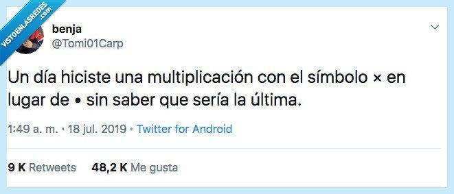 doler,multiplicación,x,·