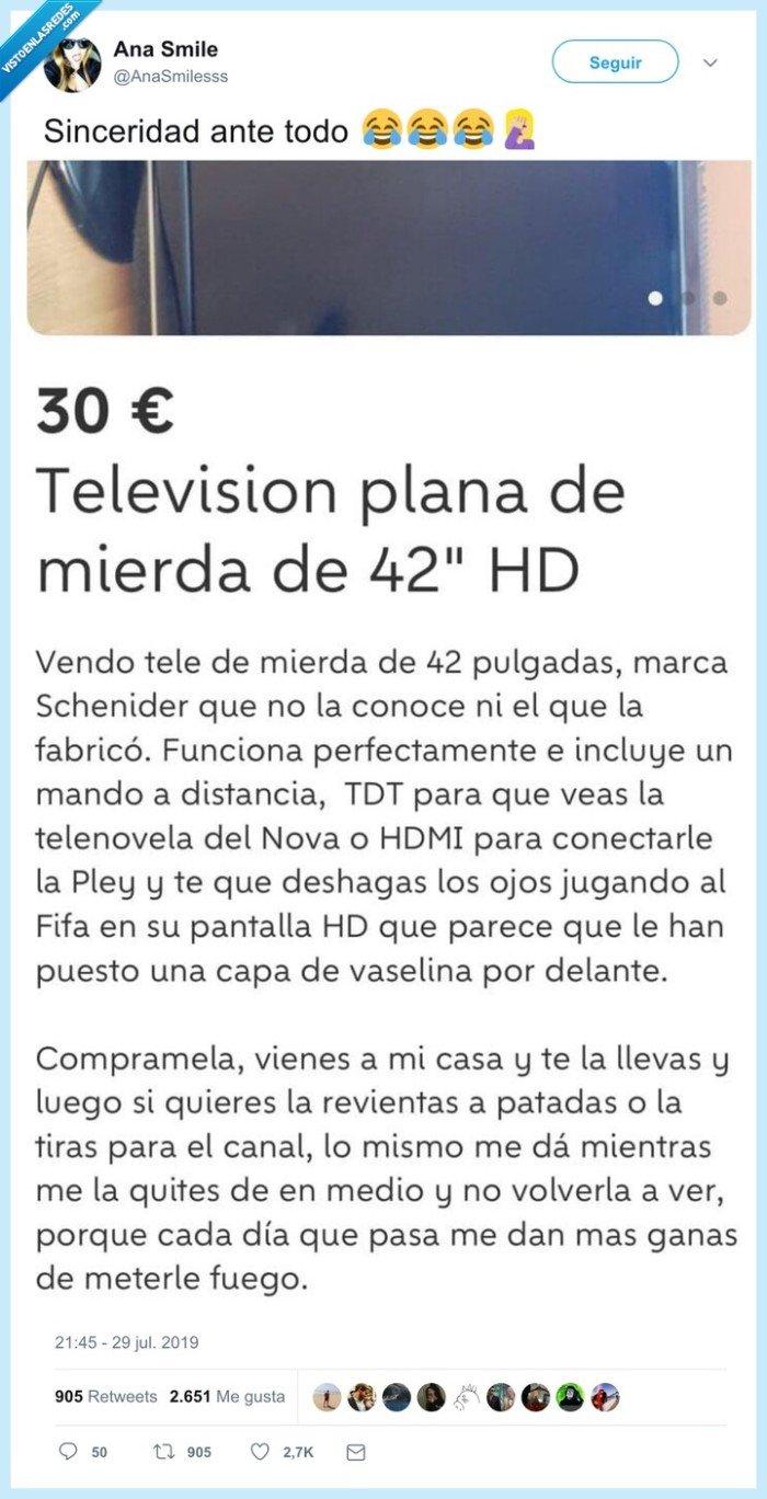 desastre,televisor,venta