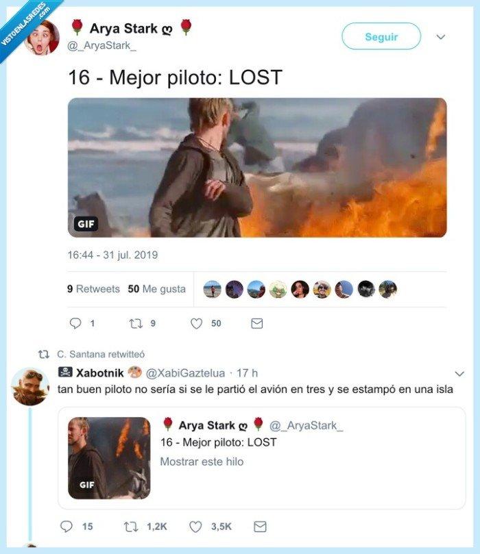 avión,lost,piloto,series