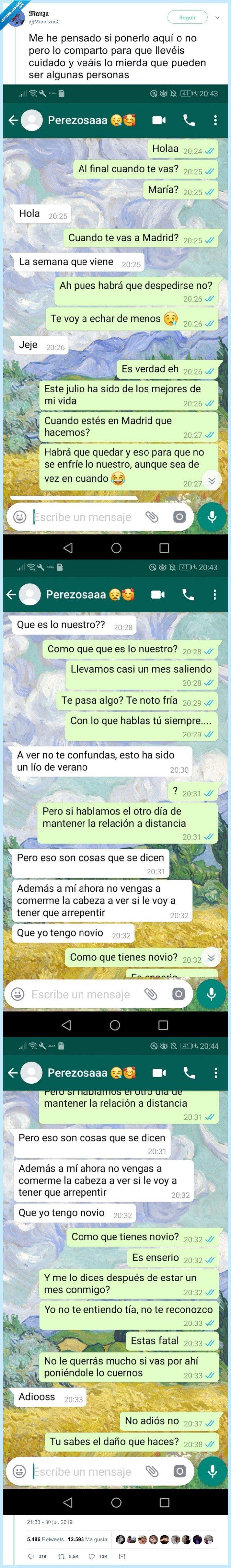 amor,amor de verano,cuernos,whatsapp