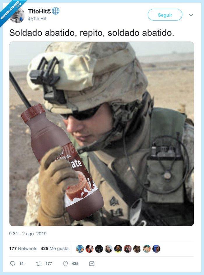 abatido,batido,soldado