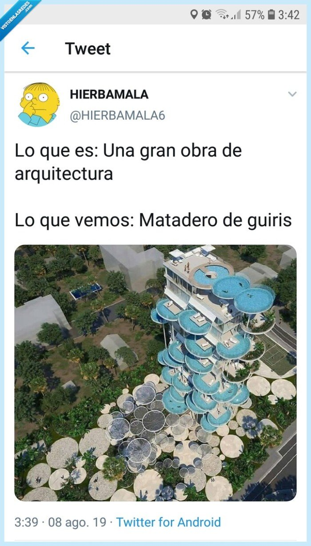 guiris,piscina,ver