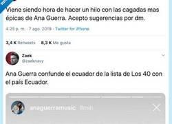 Enlace a No tenemos pruebas pero tampoco dudas de que Ana Guerra es una cagadas en Instagram, por @zaeknavy
