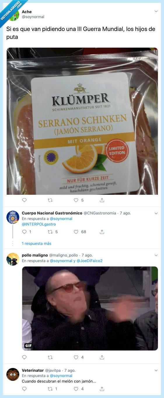 alemania,guerra,jamón sabor naranja